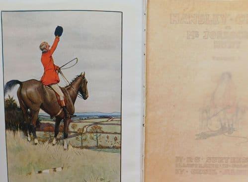 Handley Cross book vol 1 R L Surtees Mr Jorrocks's Hunt illustrated Cecil Aldin